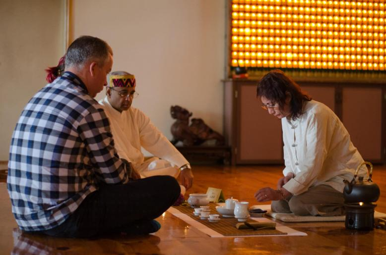 Shihan Hodson At Formal Tea Ceremony