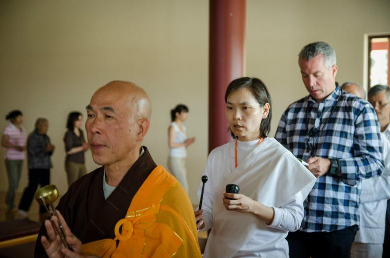Shihan Hodson Chanting With Master in Buddhist Temple