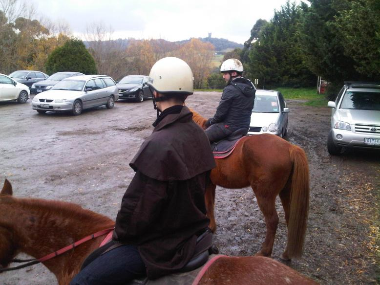 School outdoor activity - Horse riding training