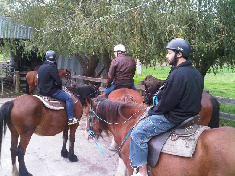 Horse Riding Near Bunyip River