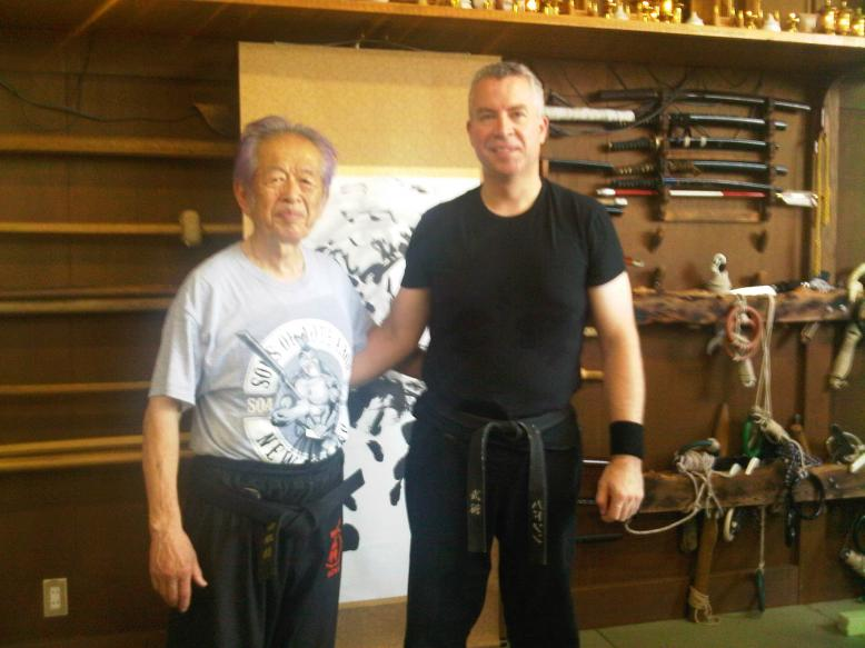 Shihan Hodson with Soke Hatsumi in Japan