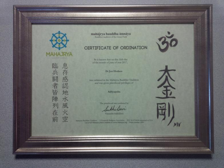 Ordained Teacher/Priest (Esoteric Buddhism)