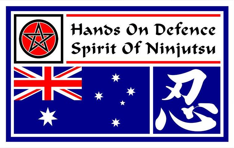 'Hands On Defence - Spirit Of Ninjutsu' Banner